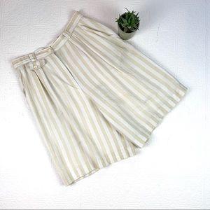 Vintage Giorgio Sant Angelo Linen Mom Shorts SZ 12
